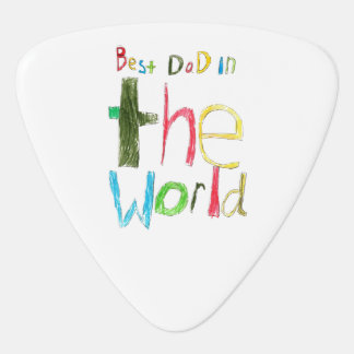 best dad in the world guitar pick