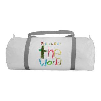 best dad in the world gym duffel bag