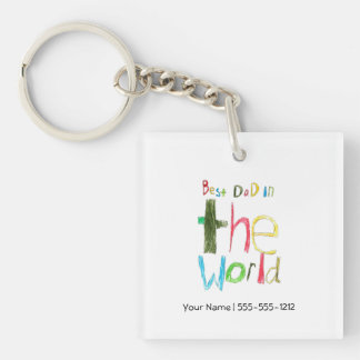 Best Dad in the World Key Ring