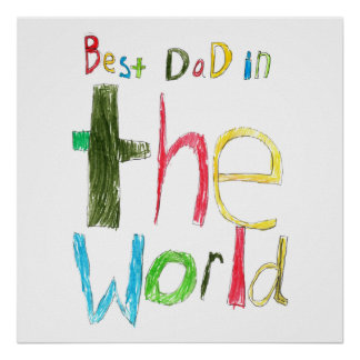 best dad in the world poster