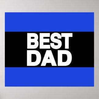 Best Dad Lg Blue Poster