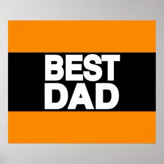 Best Dad Lg Orange Posters