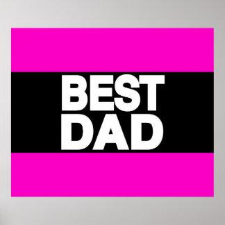 Best Dad Lg Pink Poster