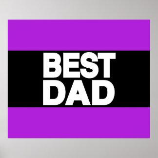 Best Dad Lg Purple Print