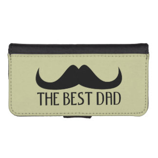 Best Dad Moustache Father's Day iPhone 5/5S wallet