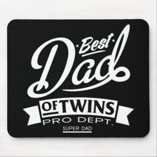 Best Dad Of Twins Pro Dept. Super Dad Mouse Pad