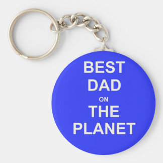 Best DAD on the planet Basic Round Button Key Ring