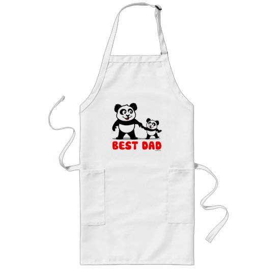 Best Dad Panda Long Apron