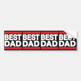 Best Dad Red Bumper Sticker