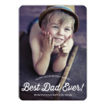 Best Dad | Retro Calligraphy Father's Day Card 13 Cm X 18 Cm Invitation Card