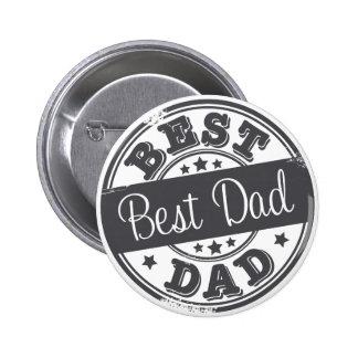 Best Dad - rubber stamp effect - 6 Cm Round Badge