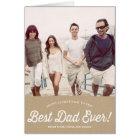 Best Dad Script | Karaft Paper Father's Day Card
