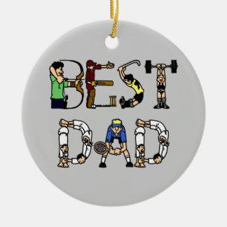 Best Dad Sports Fun Text Ornament Christmas Ornament