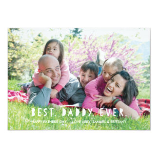 Best. Daddy. Ever. Father's Day Card - Lime 13 Cm X 18 Cm Invitation Card