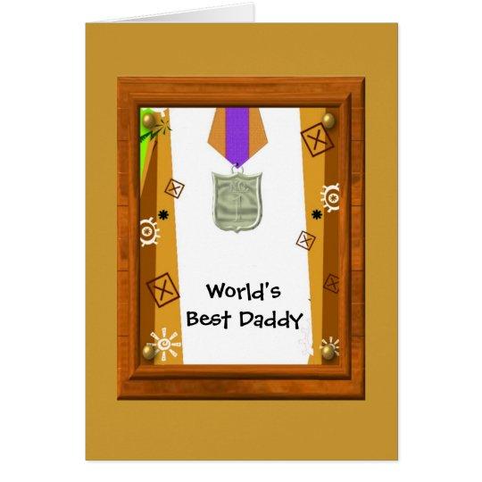 Best Daddy Medal Card