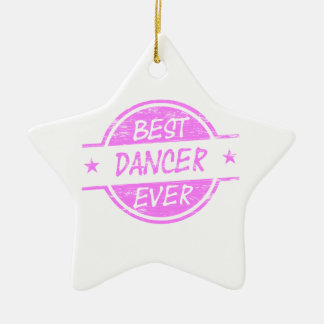 Best Dancer Ever Pink Christmas Tree Ornaments