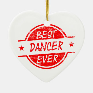 Best Dancer Ever Red Christmas Ornaments
