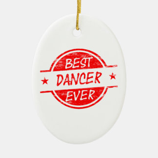 Best Dancer Ever Red Ornaments