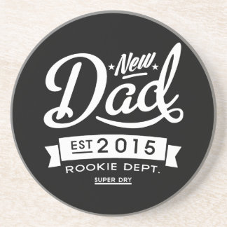 Best Dark New Dad 2015 Coaster