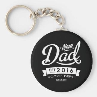 Best Dark New Dad 2016 Basic Round Button Key Ring