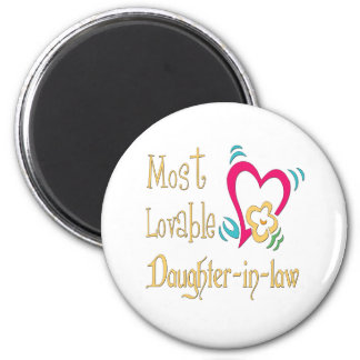 Best Daughter-in-law Gifts 6 Cm Round Magnet