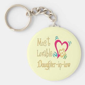 Best Daughter-in-law Gifts Basic Round Button Key Ring