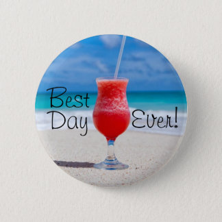 Best Day Beach 6 Cm Round Badge