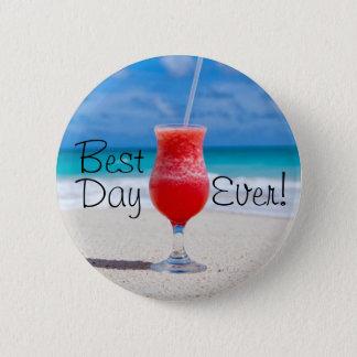 Best Day Beach 6 Cm Round Badge