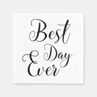 """Best Day Ever"" paper napkins"