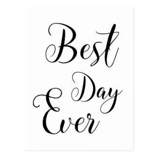 """Best Day Ever"" Postcards"