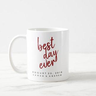Best Day Ever Red Wedding Coffee Mug