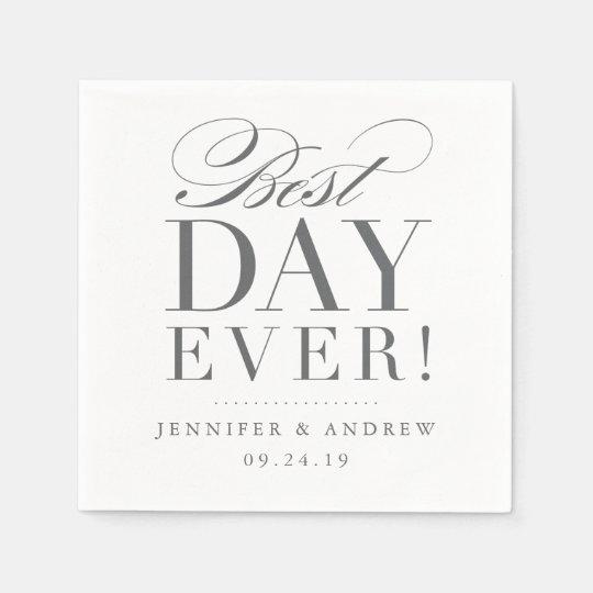 Best Day Ever Wedding Napkin Paper Napkins