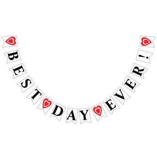 BEST DAY EVER! WEDDING SIGN DECOR BUNTING