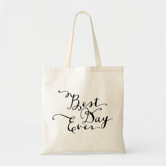 Best Day Ever Wedding Tote Bag