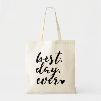 """Best Day Ever"" Wedding Welcome bag,Wedding Favor2 Budget Tote Bag"