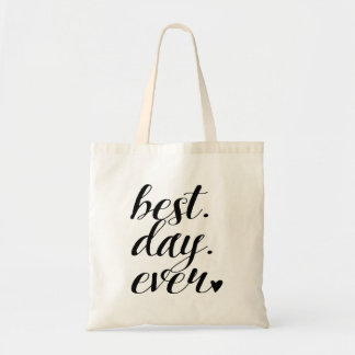"""Best Day Ever"" Wedding Welcome bag,Wedding Favor Budget Tote Bag"