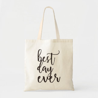 Best Day Ever| Wedding Welcome Gift Budget Tote Bag