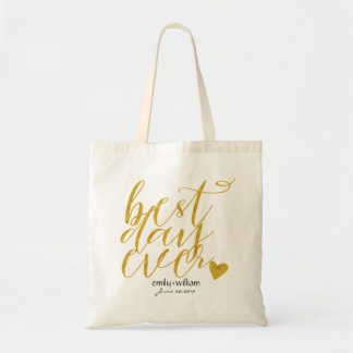 Best Day Ever|Wedding Welcome Gift/Favor2 Budget Tote Bag