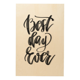 Best Day Ever Wood Wall Art