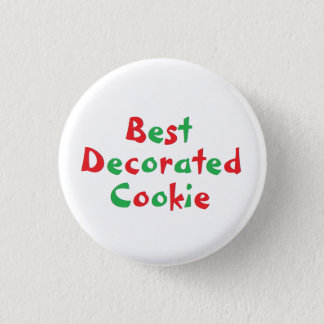 """Best Decorated Cookie"" Award Pin"