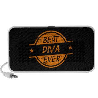 Best Diva Ever Orange Notebook Speaker