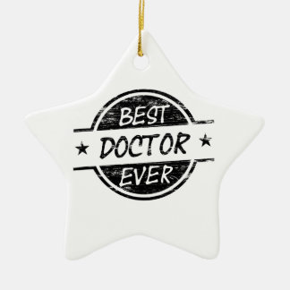 Best Doctor Ever Black Christmas Ornament