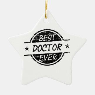 Best Doctor Ever Black Christmas Ornament
