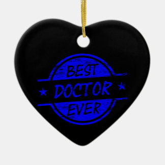 Best Doctor Ever Blue Christmas Ornament