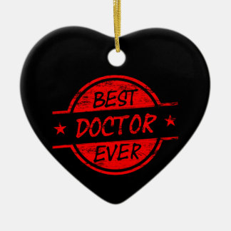 Best Doctor Ever Red Ceramic Heart Decoration