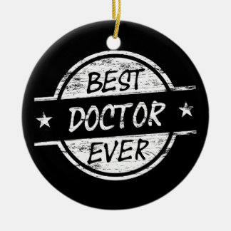 Best Doctor Ever White Christmas Ornament