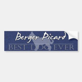 Best Dog Berger Picard Bumper Sticker