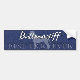 Best Dog Bullmastiff Bumper Sticker