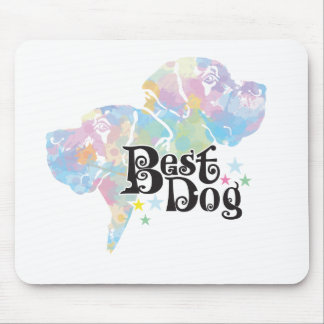 Best Dog colored Mouse Pad