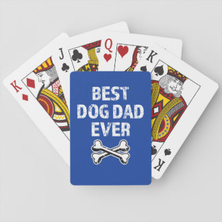 Best Dog Dad Ever funny deck of cards